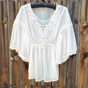 Free People Daydreamer Peasant Top Empire Blouse S